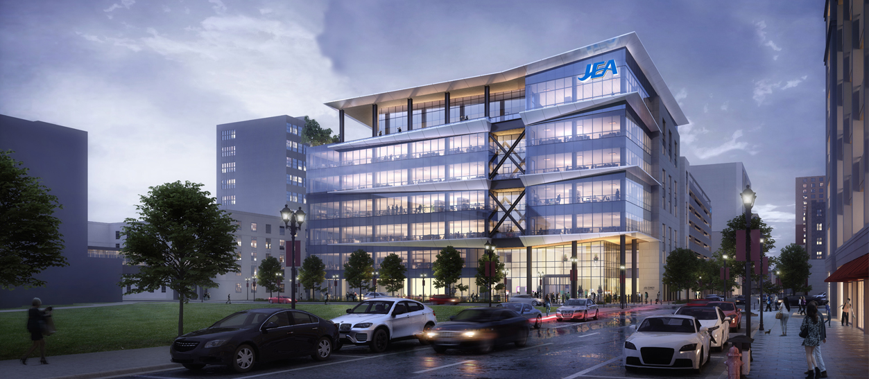 Conceptual rendering of new JEA Headquarters