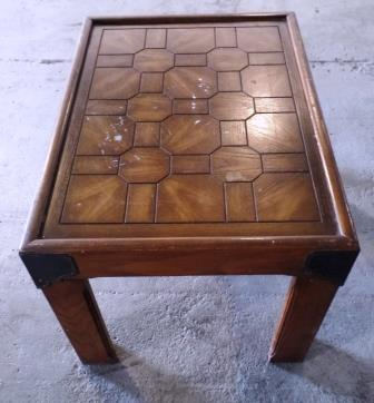 Wooden End Table A