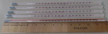 Mercury Filled Lab Thermometer