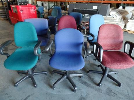 Various Fabric Rolling Office Chairs