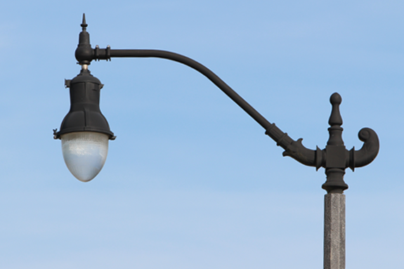Decorative Light Poles : Street and area lights electric development