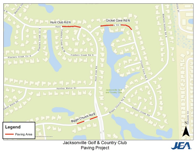 Jacksonville Golf and CC Map
