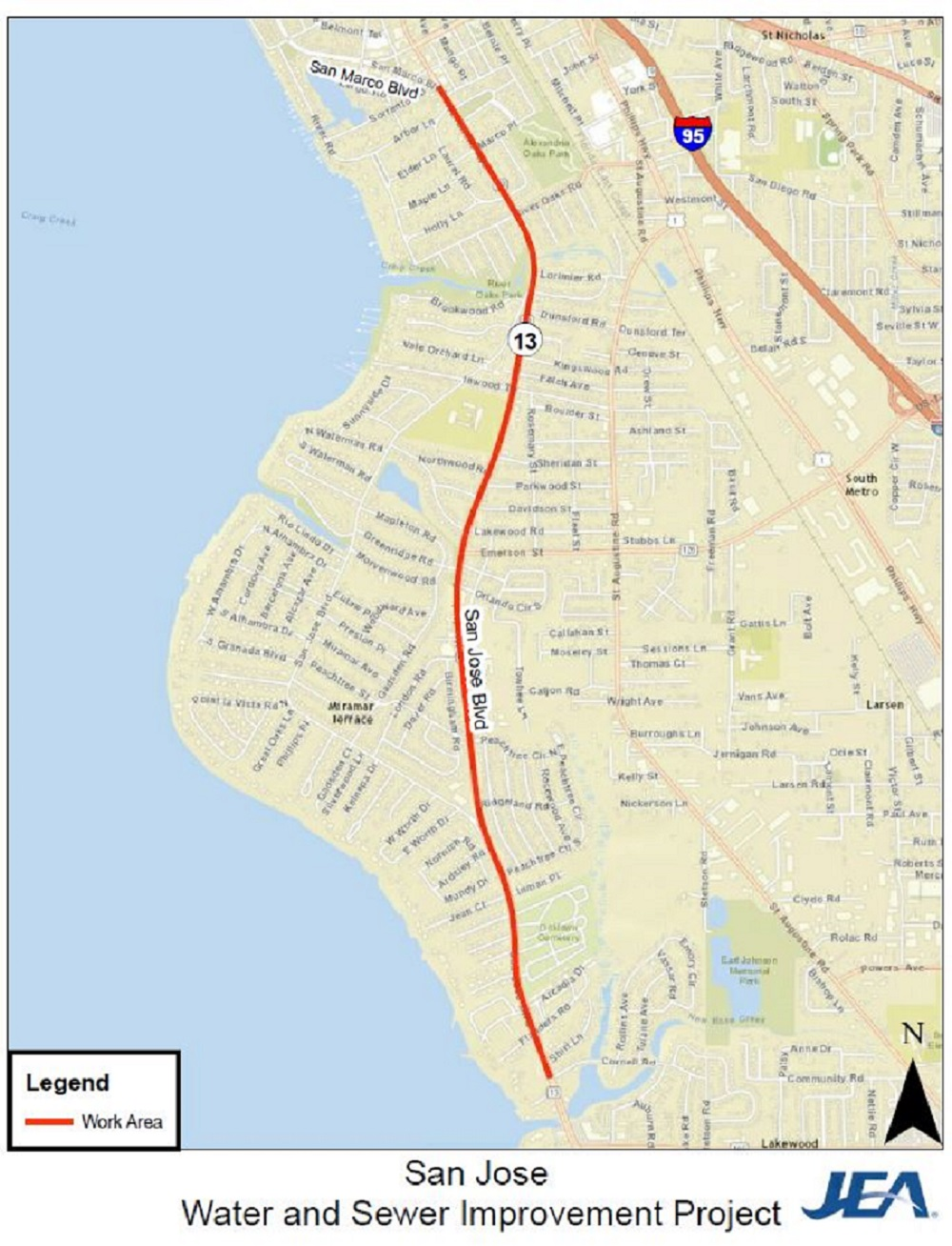 Construction Projects In Our Community JEA - San jose water supply map