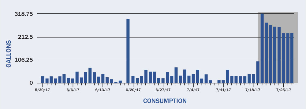 Water Consumption Bar Graph