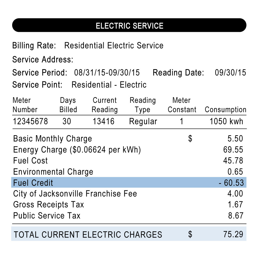 Fuel Credit Bill