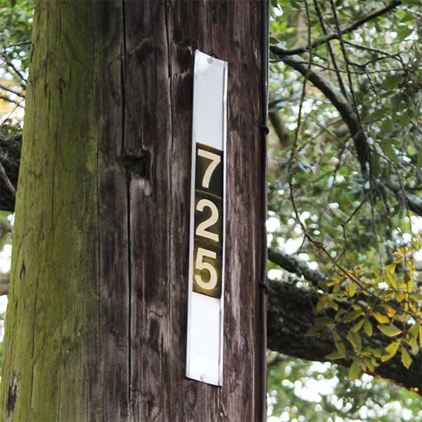 Wood Pole Numbers
